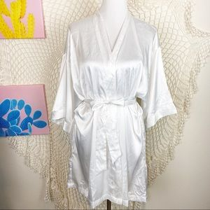 """Victoria secret white """"bride"""" rhinestone robe O/S"""